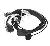 Kenwood 3,5 mm + 2,5 mm retráctil vibración de la garganta del dedo Tube PPT Acústica auricular + Mic