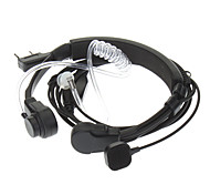 Kenwood 3.5mm + 2.5mm Retractable Throat Vibration Finger PPT Acoustic Tube Earphone + Mic