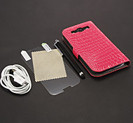 Crocodile Skin Pattern PU Leather Pouches + USB Cable + HD Screen Protector + Stylus Pen for Samsung Galaxy S3 I9300