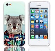 Lovely Koala Pattern Hard Case with 3-Pack Screen Protectors for iPhone 5/5S
