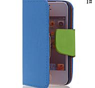Reinheit PU-Leder Ganzkörper-Fall für iPhone 4/4S (verschiedene Farben)