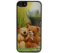 3D Loverly Мишка и травы Pattern чехол для iPhone 5/5S