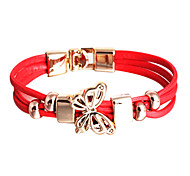 PU Wrap Bracelet Multilayer Fashion Butterfly Bracelet