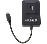OTG intelligente multi Fcuntion Combo pour Smart Phone & Pad (2.0 HUB + Lecteur de cartes)