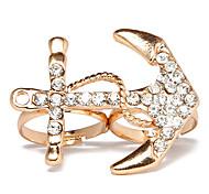 Anel ajustável Cristal Golden Anchor