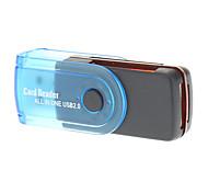 Lecteur de carte USB 2.0 Haute-vitesse (orange / bleu)