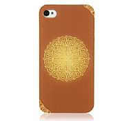 Originele Palace Style Design Pattern Transparent Frame Terug Case voor iPhone 4/4S