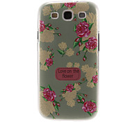 Light Green Peony Pattern Plastic Protective Hard Back Case Cover for Samsung Galaxy S3 I9300