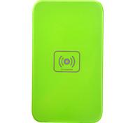 Qi Wireless Charger verde Pad ricarica con ricevitore nero per Samsung Galaxy Nota 2 N7100