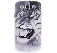 Tigre Blanco Pintura Patrón cubierta del caso plástico trasero duro para el Samsung Galaxy S3 I9300