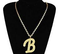Collier avec pendentif Mode B Lettre