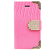 Joyland Gold Lace Zircon Crocodile Stripe Leather Case for iPhone 5(Assorted Color)