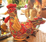 Polychrome peluche Cock poupée de style chinois jouet cadeau