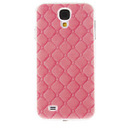 Pink Leather Pattern Plastic Protective Hard Back Case Cover for Samsung Galaxy S4 I9500