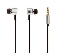 Marca Xiaomi Piston de Metal In-Ear Fones de ouvido com controle remoto e microfone para iPhone / Samsung / HTC / PC