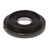 FD-EOS Camera Lens Glass Adapter Ring (Black)