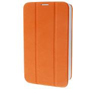 Tri-Fold Couro Faux Flip Case com suporte para Samsung Galaxy P3200 Tab3