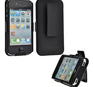 Slide Case with Belt Clip Swivel Holster Stand Cover for iPhone 4/4S