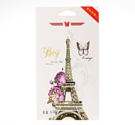 Eiffel Tower Pattern Front and Back Leather Screen Protector Stickers for iPhone 5/5S