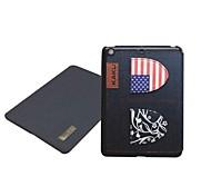 Neuheit Jeans Nationalflagge Ledertasche mit Ständer für iPad2/3/4