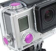 Gopro Accessories Button For All Gopro Aluminium Alloy Pink