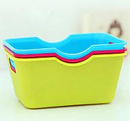 Candy Color Plastic Organizer Box (Random Color)