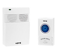 VOYE Home Security 1 to 1 Received 315MHz 20 times/Day Wireless Doorbell 38 Songs