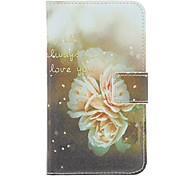 Love Flower Painting Pattern Faux Leather with Plastic Hard Back Cover Pouches for Samsung Galaxy S3 I9300