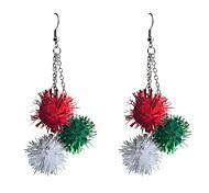 European Style Lovely Christmas Ball Alloy Earrings