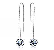 Drop Earrings Women's Sterling Silver Earring Crystal