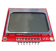 84*48 Nokia 5110 LCD Module with white backlight RED PCB for (For Arduino) TK0651