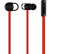 Flat Cable Style In-ear Headphone with Mic,Hi-Fi(Assorted Colors)