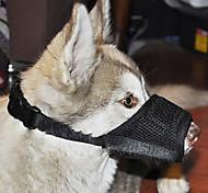Nylon Adjustable Sponge Magic-tapped Training Bite-bit-stop Muzzle for Pets Dogs
