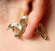 European Style Retro Personality Horse Earrings