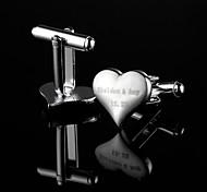 Personalizzata di cuore a forma di regalo d'argento inciso Gemelli