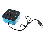All in One USB 2.0 Memory Card Reader (Blue)