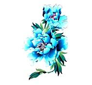 5 Stück Peony Wasserdicht Tattoo (10,5 cm * 20,5 cm) HM451