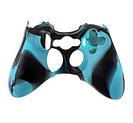Custodia in silicone controller wireless per Xbox 360 (blu)