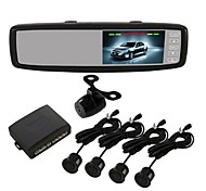 Hot 4.3 inch Universal  Video Parking Sensor Car System Touch Screen Button Control.Two Video Input