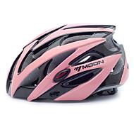 MOON Radfahren Schwarz und Pink PC / EPS 21 Vents Schutzhelm Fahrt