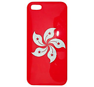 Simple Design Red Ground Chinese Redbud Pattern Back Case for iPhone 5/5S