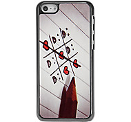 Game of Ticktacktoe Pattern Aluminous Hard Case for iPhone 5C