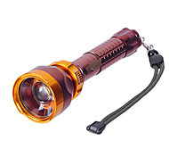 LT-C8153 Rechargeable 3-Mode Cree XP-E Q5 LED Zoom Flashlight (550LM, 1x18650, Gold)
