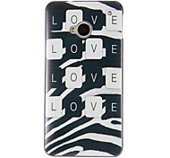 For HTC Case Pattern Case Back Cover Case Word / Phrase Hard PC HTC