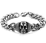 череп символов Classic мужской браслет титана стали с высоким качеством товаров