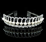 Women's / Flower Girl's Rhinestone / Imitation Pearl Headpiece-Wedding Headbands