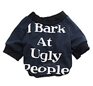 Cute I Bark at Ugly People Pattern Warm T-shirt for Pets Dogs (Assorted Sizes)