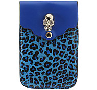 BJ00100 Colorful Leopard Print Universal PU Leather Pouch Bag for Samsung Cell Phones