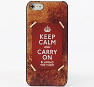 Keep Calm and Carry On Protective Hard Back Case for iPhone 5/5S