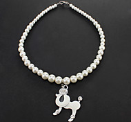 Necklaces for Dogs White / Silver Spring/Fall Plastic